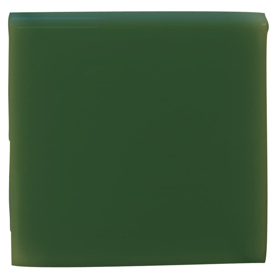 Interceramic Evergreen Ceramic Bullnose Tile (Common: 4-in x 4-in; Actual: 4.24-in x 4.24-in)