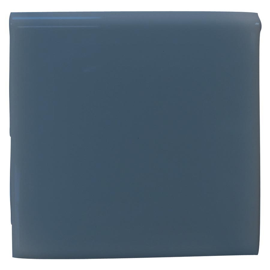 Interceramic Colonial Blue Ceramic Bullnose Tile (Common: 4-in x 4-in; Actual: 4.24-in x 4.24-in)