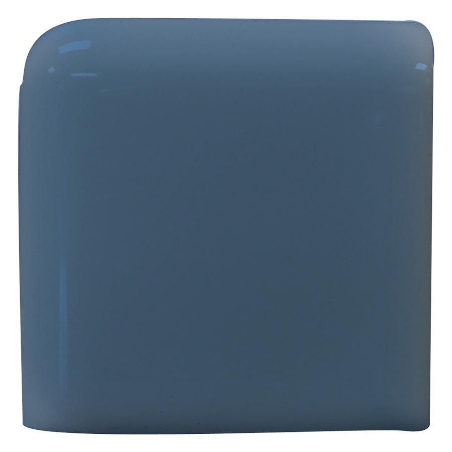 Interceramic Colonial Blue Ceramic Bullnose Tile (Common: 4-in x 4-in; Actual: 4.24-in x 4.24-in)