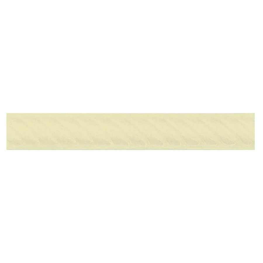 Interceramic Decorative Accents Canvas Ceramic Pencil Liner Tile (Common: 1-in x 8-in; Actual: 1.17-in x 7.83-in)
