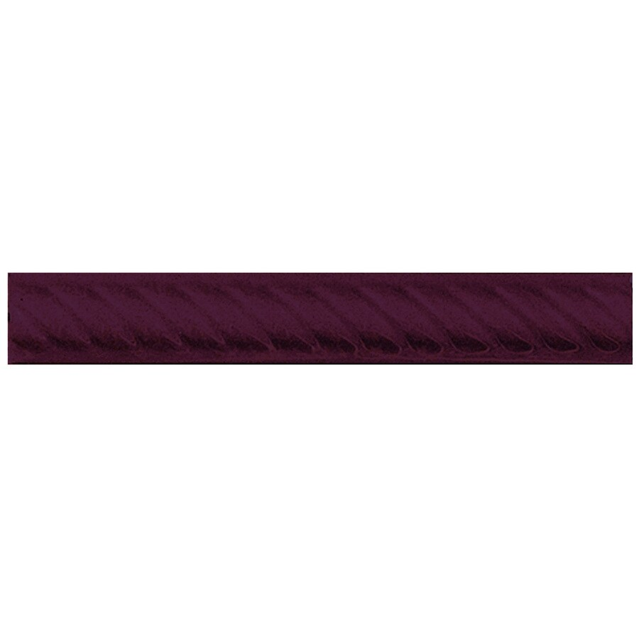 Interceramic Decorative Accents Plum Ceramic Pencil Liner Tile (Common: 1-in x 8-in; Actual: 1.17-in x 7.83-in)