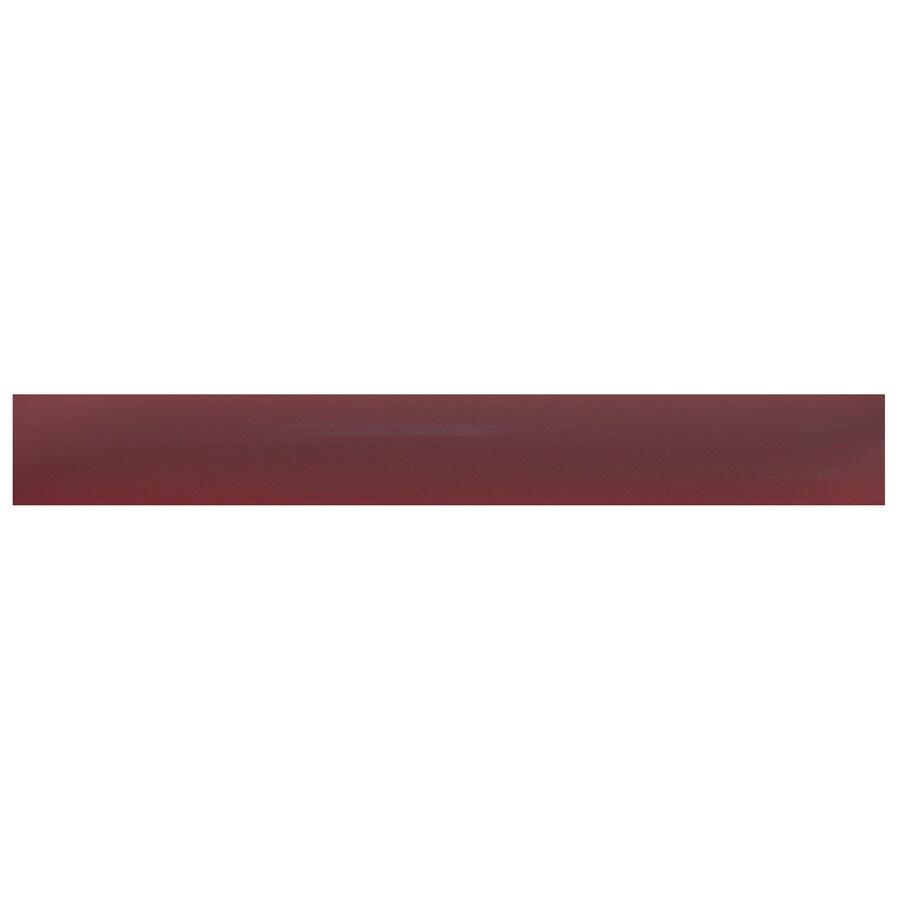 Interceramic Decorative Accents Plum Ceramic Pencil Liner Tile (Common: 1/2-in x 8-in; Actual: 0.48-in x 7.85-in)