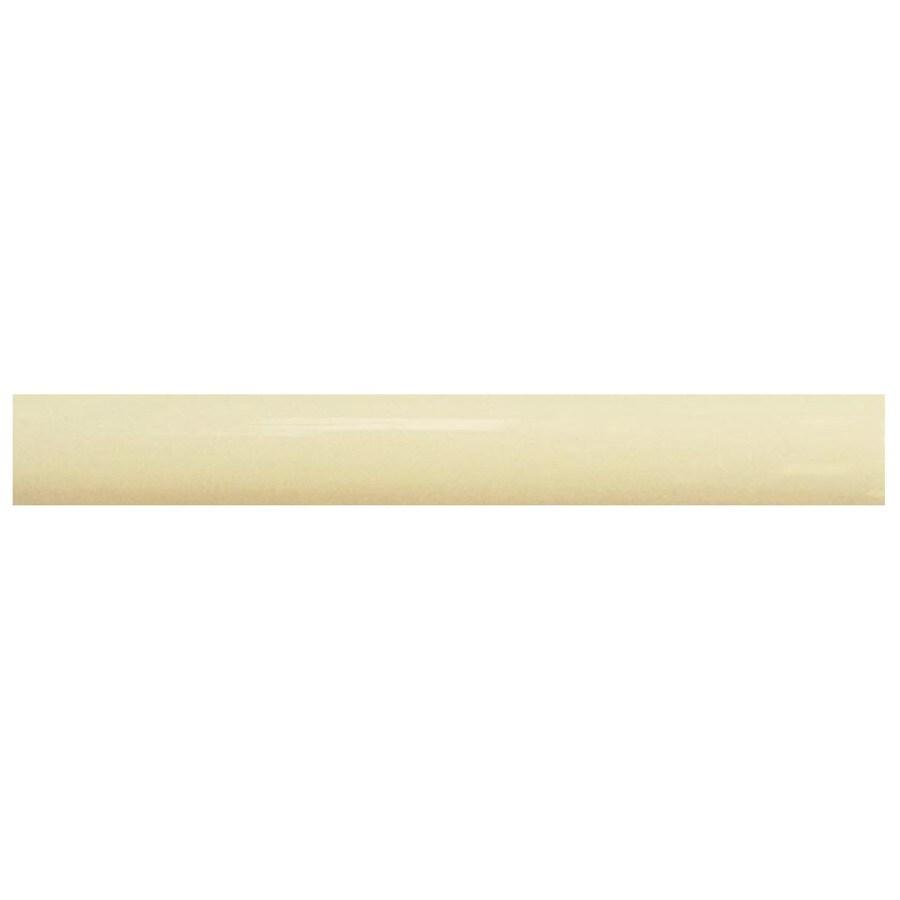 Interceramic Decorative Accents Canvas Ceramic Pencil Liner Tile (Common: 1/2-in x 8-in; Actual: 0.48-in x 7.85-in)