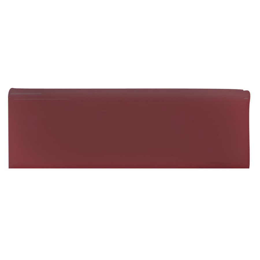 Interceramic Plum Ceramic Bullnose Tile (Common: 2-in x 6-in; Actual: 2-in x 5.98-in)