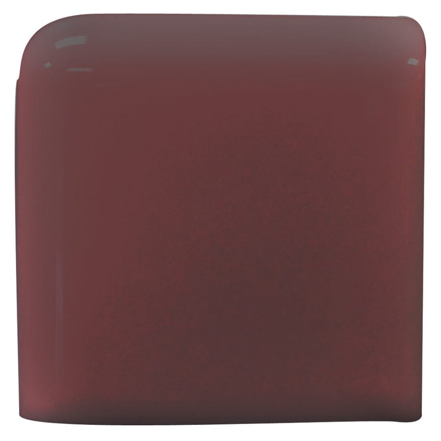 Interceramic Plum Ceramic Bullnose Tile (Common: 4-in x 4-in; Actual: 4.24-in x 4.24-in)