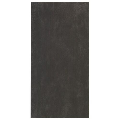 Interceramic Concrete 8-Pack Black Porcelain Floor Tile