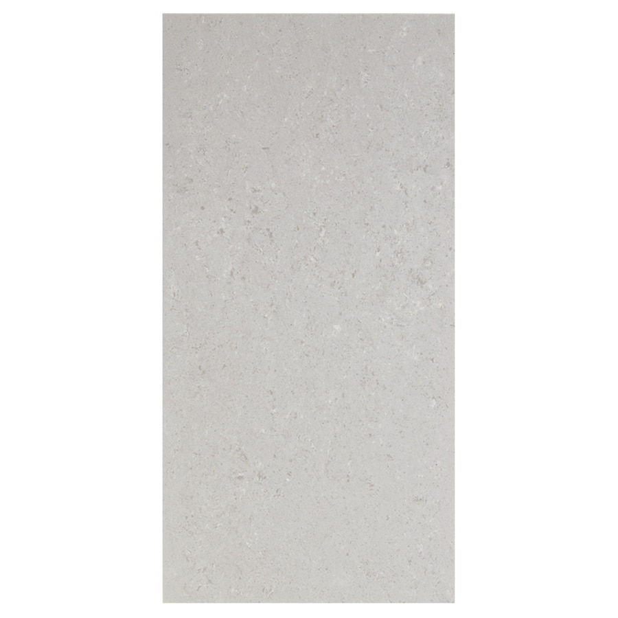 Interceramic Barcelona Ii 8-Pack Light Grey Thru Body Porcelain Floor Tile (Common: 12-in x 24-in; Actual: 11.81-in x 23.69-in)
