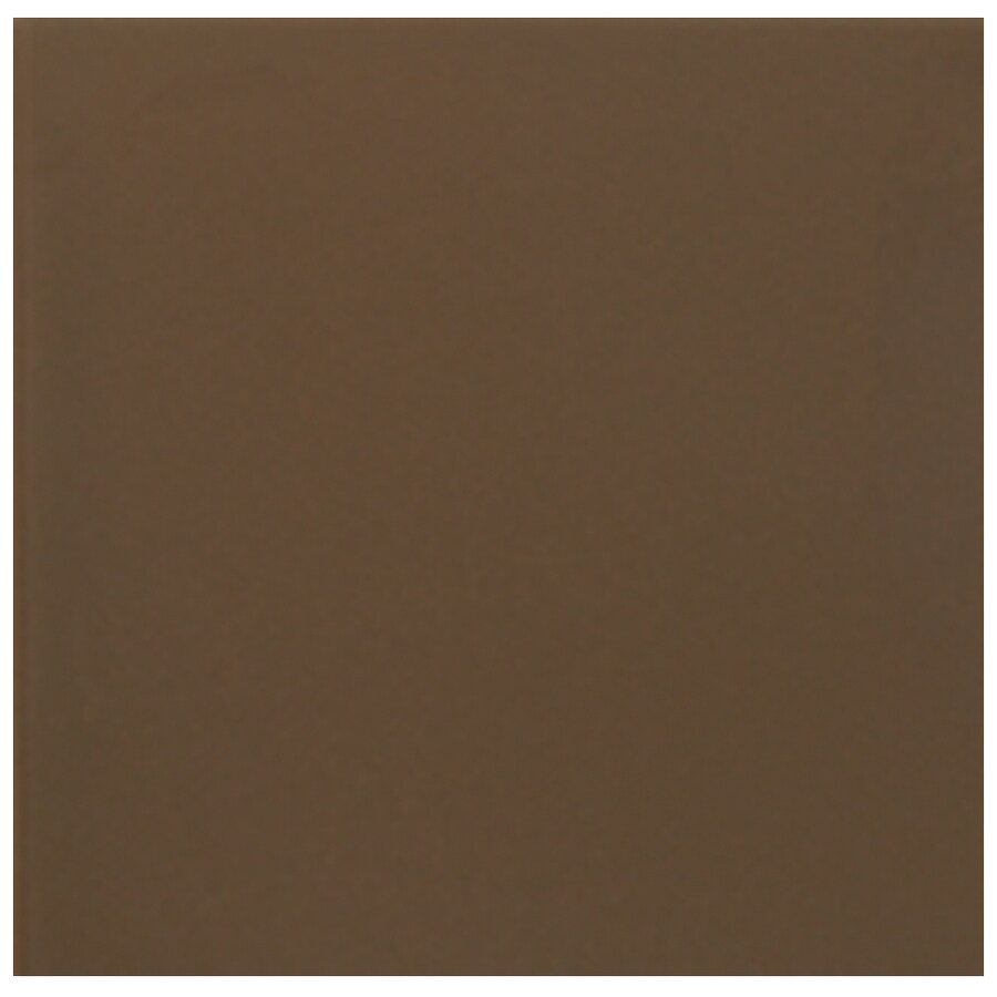 Interceramic Wall 40-Pack Brown Kiss Ceramic Wall Tile (Common: 6-in x 6-in; Actual: 6.01-in x 6.01-in)