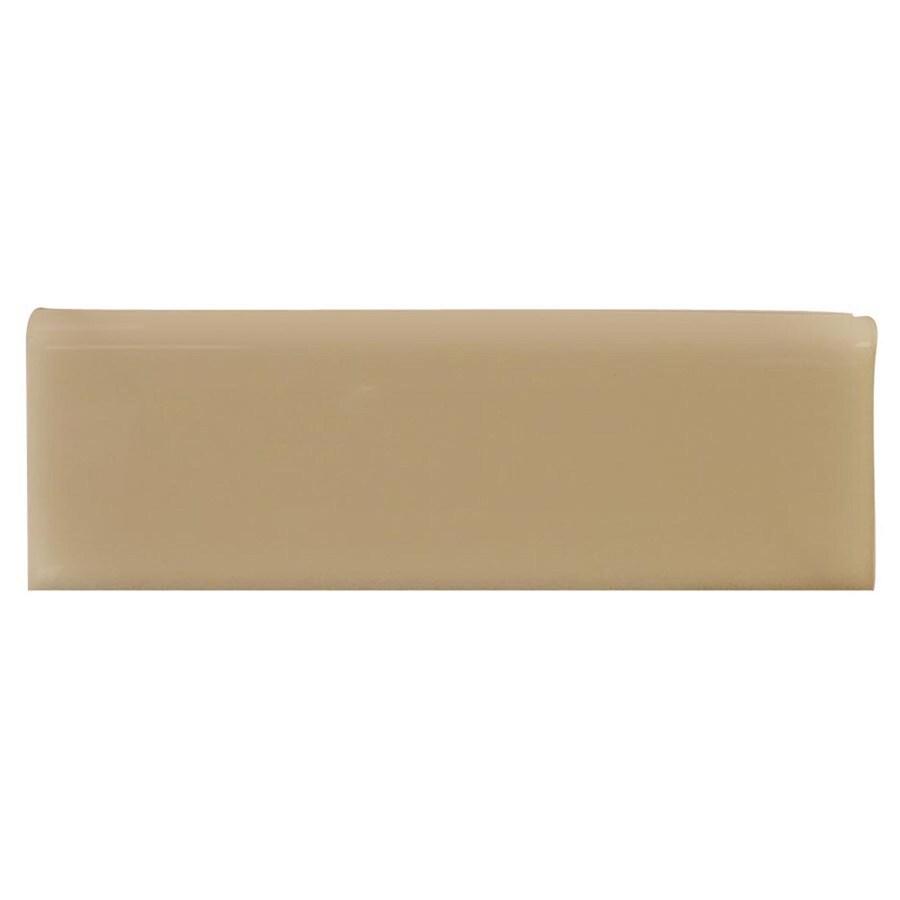 Interceramic Cocoa Ceramic Bullnose Tile (Common: 2-in x 6-in; Actual: 2-in x 5.98-in)