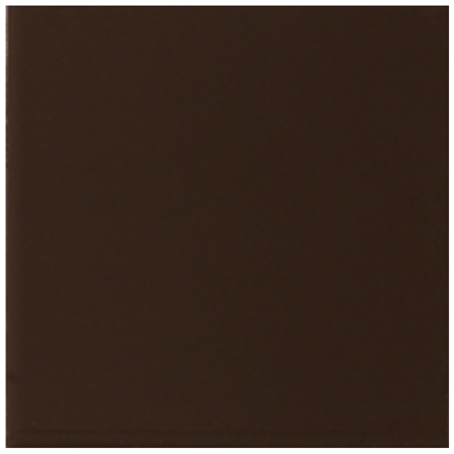 Interceramic Wall 40-Pack Deep Brown Ceramic Wall Tile (Common: 6-in x 6-in; Actual: 6.01-in x 6.01-in)