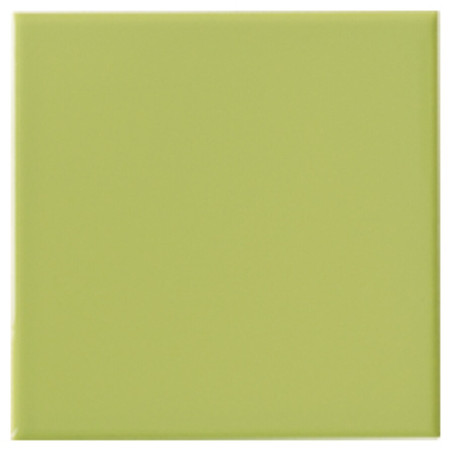 Shop Interceramic Wall 80 Pack Limelight Ceramic Wall Tile Common 4 In X 4
