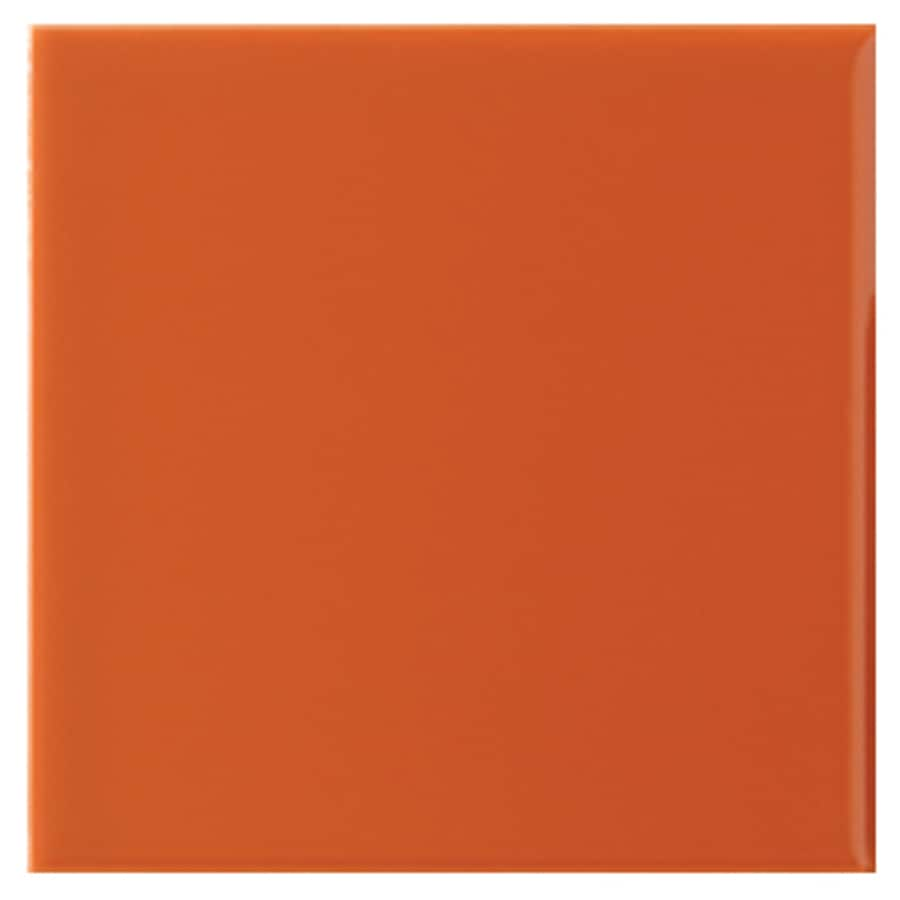 Shop Interceramic Wall 80 Pack Orange Clay Ceramic Wall Tile Common 4 In X
