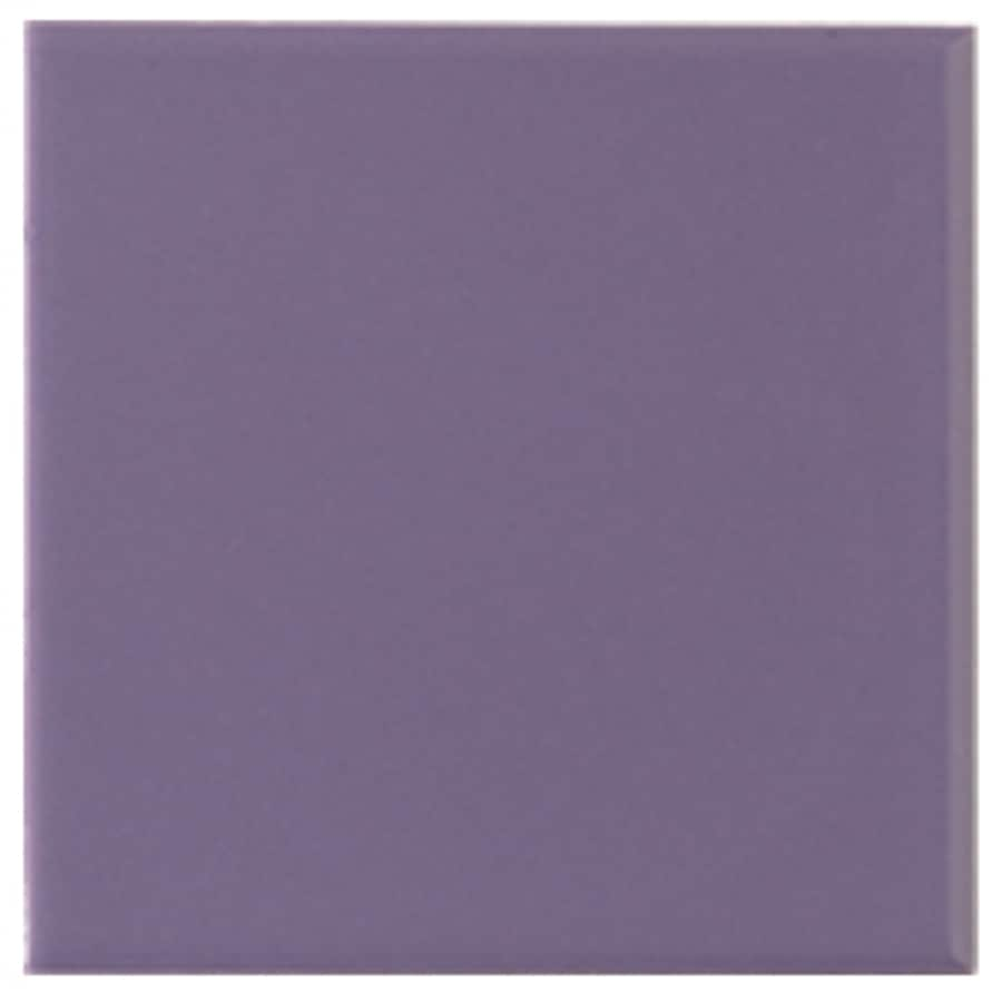 Interceramic Wall 40-Pack Lilac Ceramic Wall Tile (Common: 6-in x 6-in; Actual: 6.01-in x 6.01-in)