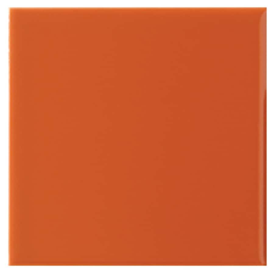 Interceramic Wall 40-Pack Orange Clay Ceramic Wall Tile (Common: 6-in x 6-in; Actual: 6.01-in x 6.01-in)