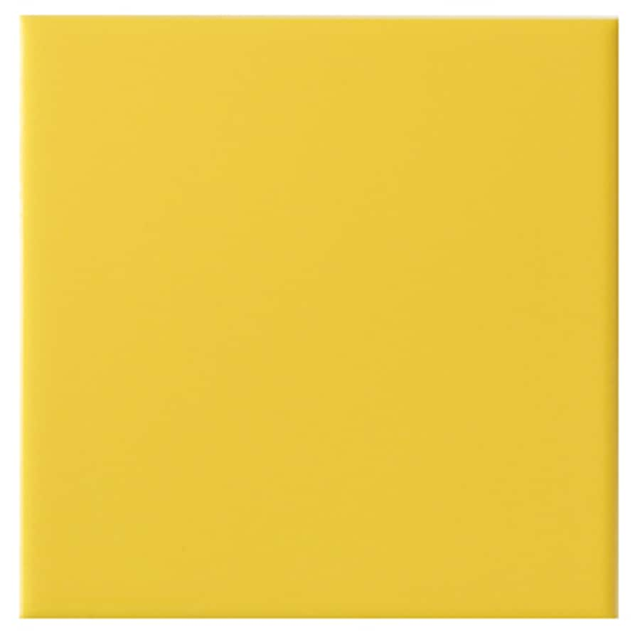 Interceramic Wall 40-Pack True Yellow Ceramic Wall Tile (Common: 6-in x 6-in; Actual: 6.01-in x 6.01-in)