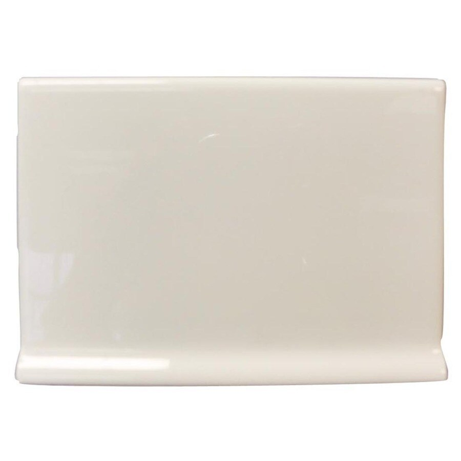 Interceramic Smoke Ceramic Cove Base Tile (Common: 4-in x 6-in; Actual: 4.25-in x 6-in)