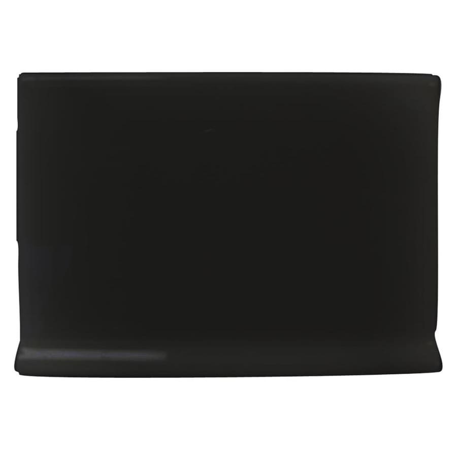 Interceramic Black Ceramic Cove Base Tile (Common: 4-in x 6-in; Actual: 4.25-in x 6-in)