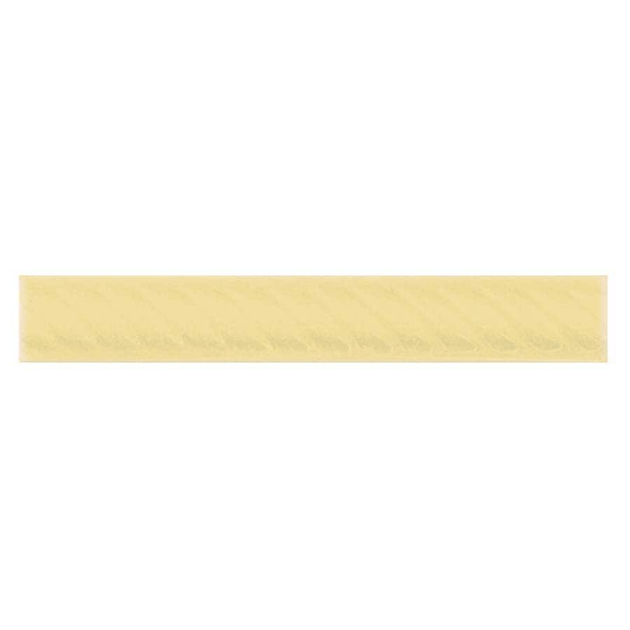 Interceramic Decorative Accents Almond Ceramic Pencil Liner Tile (Common: 1-in x 8-in; Actual: 1.17-in x 7.83-in)