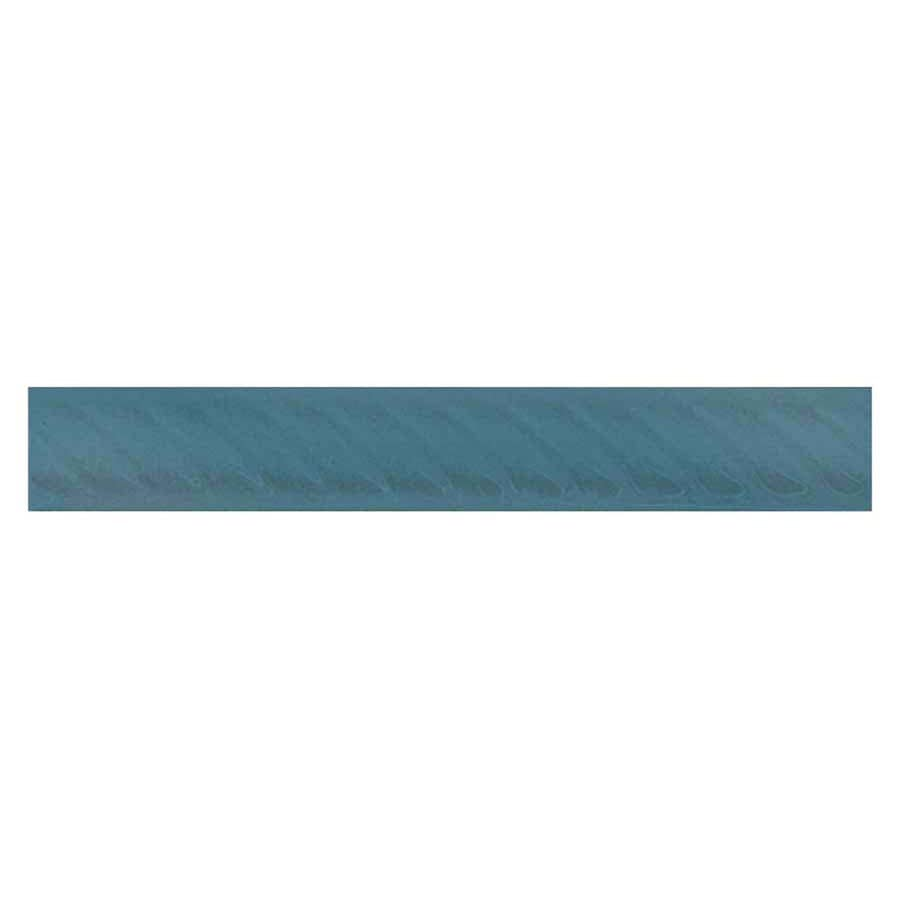Interceramic Decorative Accents Colonial Blue Ceramic Pencil Liner Tile (Common: 1-in x 8-in; Actual: 1.17-in x 7.83-in)
