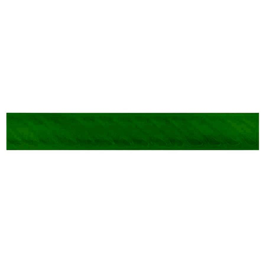 Interceramic Decorative Accents Evergreen Ceramic Pencil Liner Tile (Common: 1-in x 8-in; Actual: 1.17-in x 7.83-in)