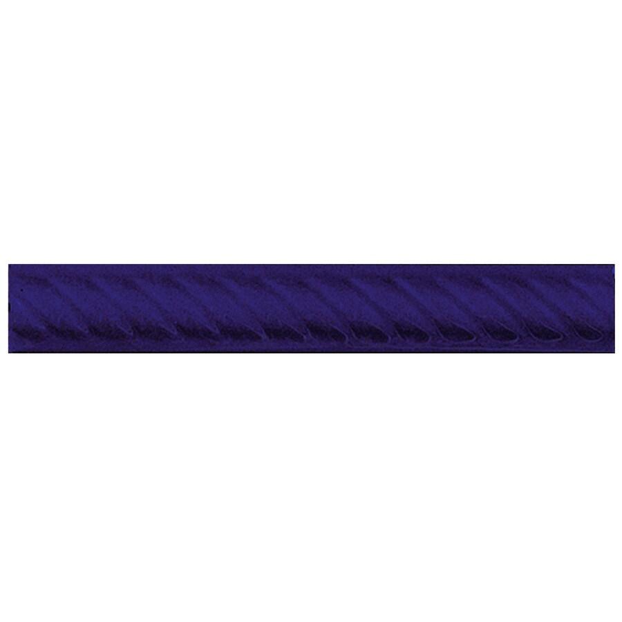 Interceramic Decorative Accents Pure Cobalt Ceramic Pencil Liner Tile (Common: 1-in x 8-in; Actual: 1.17-in x 7.83-in)