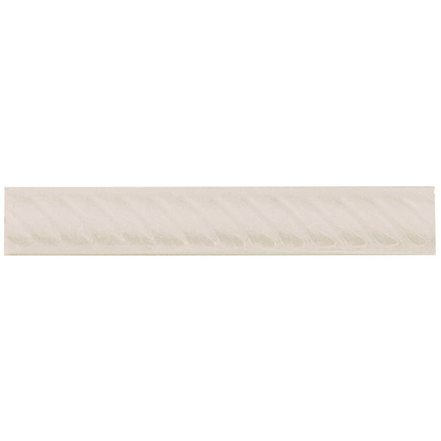 Interceramic Decorative Accents Smoke Ceramic Pencil Liner Tile (Common: 1-in x 8-in; Actual: 1.17-in x 7.83-in)