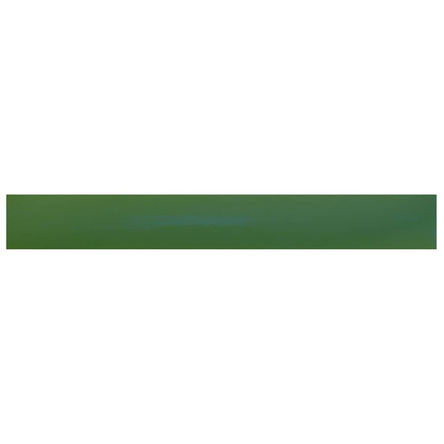Interceramic Decorative Accents Evergreen Ceramic Pencil Liner Tile (Common: 1/2-in x 8-in; Actual: 0.48-in x 7.85-in)