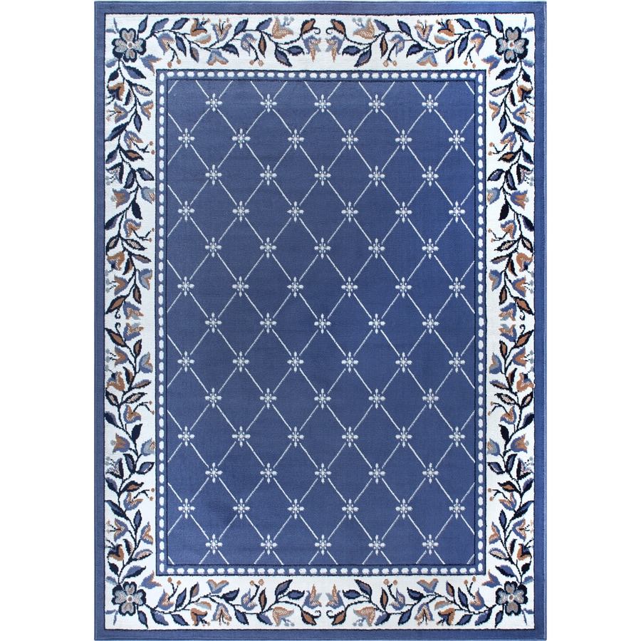 Home Dynamix London Country Blue Rectangular Indoor Woven Area Rug (Common: 8 x 10; Actual: 7.67-ft W x 10.58-ft L)