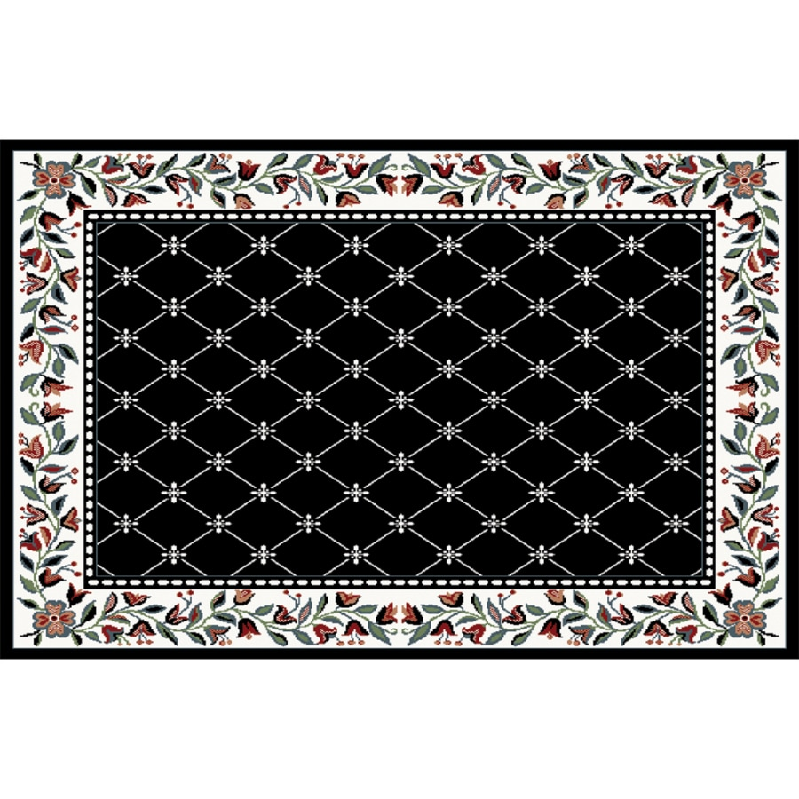 Home Dynamix London Black Rectangular Indoor Woven Area Rug (Common: 5 x 8; Actual: 62-in W x 88-in L)