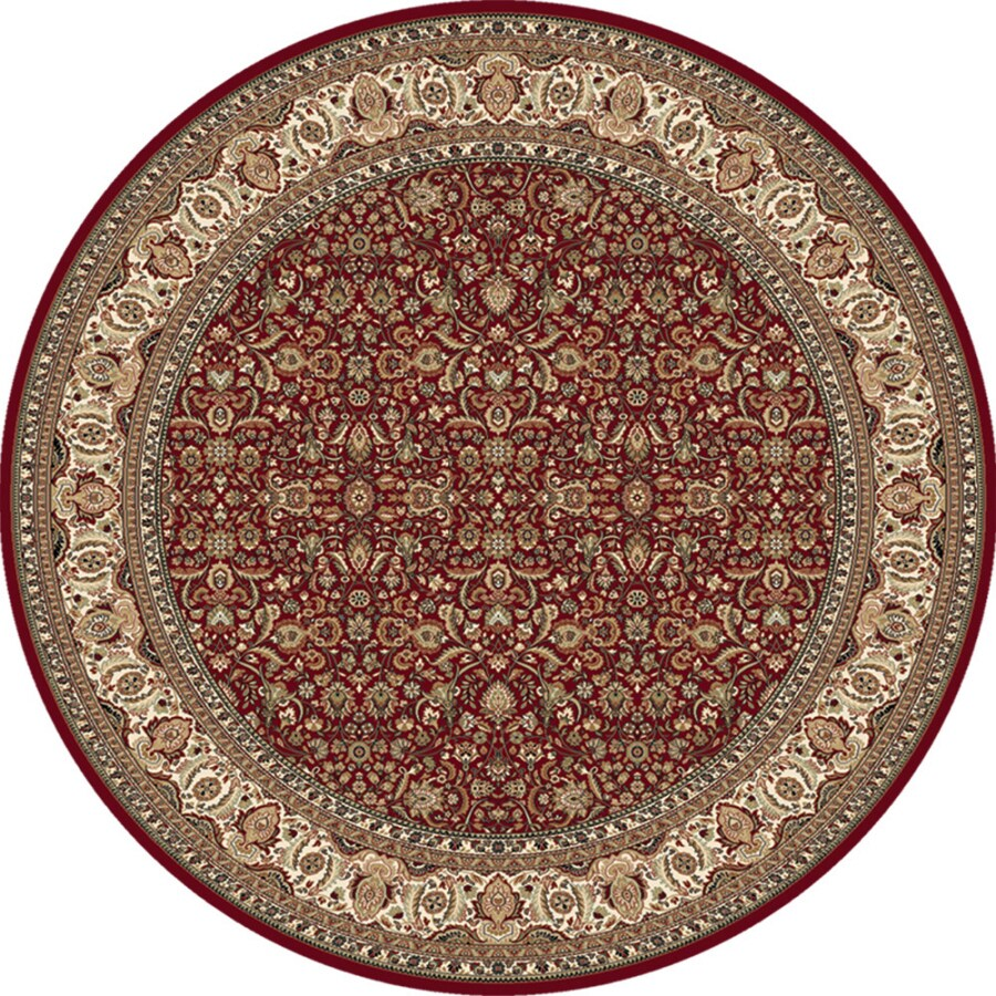 Home Dynamix Vienna Red Round Indoor Woven Area Rug (Common: 6 x 6; Actual: 5.17-ft W x 5.17-ft L)