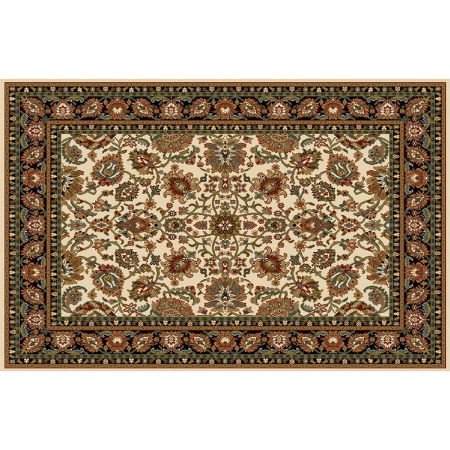 Home Dynamix Paris Ivory Rectangular Indoor Woven Area Rug (Common: 8 x 10; Actual: 7.67-ft W x 10.58-ft L)
