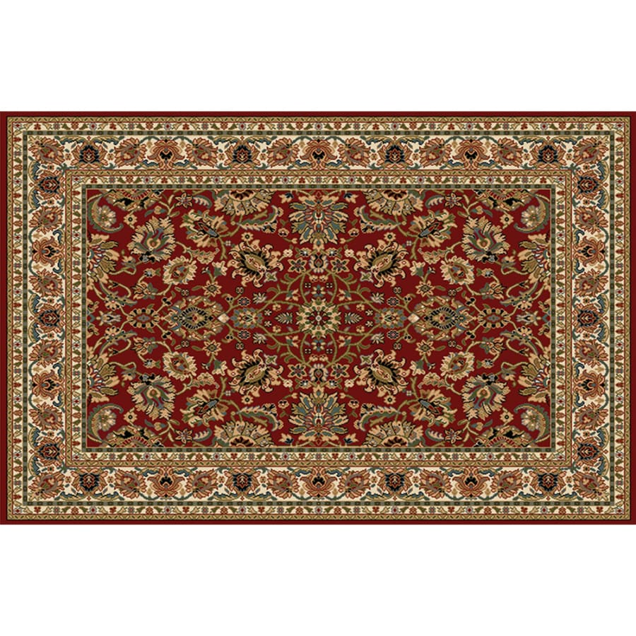 8x10 Indoor Outdoor Area Rugs: Home Dynamix Paris Red Rectangular Indoor Woven Area Rug