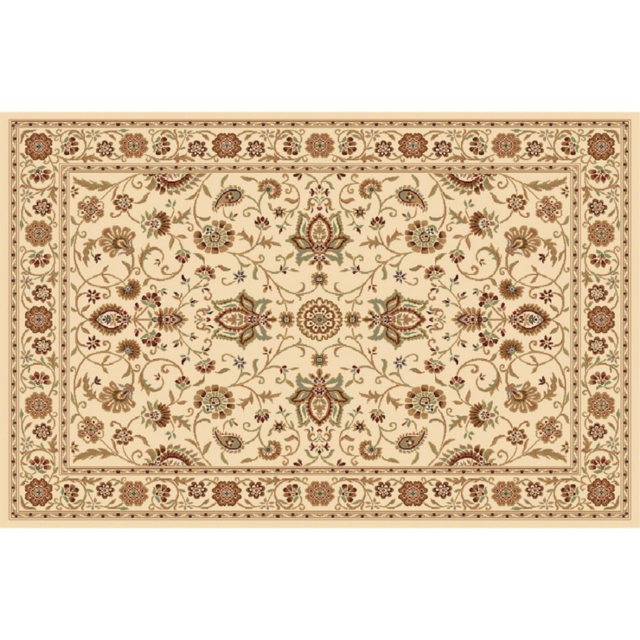 Home Dynamix Rome Ivory Rectangular Indoor Woven Area Rug (Common: 8 x 10; Actual: 7.83-ft W x 10.17-ft L)