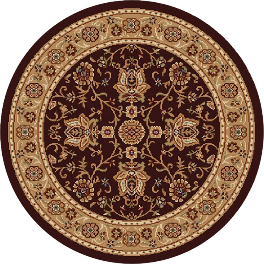 Home Dynamix Rome Brown-Gold Round Indoor Woven Area Rug (Common: 8 x 8; Actual: 7.83-ft W x 7.83-ft L)