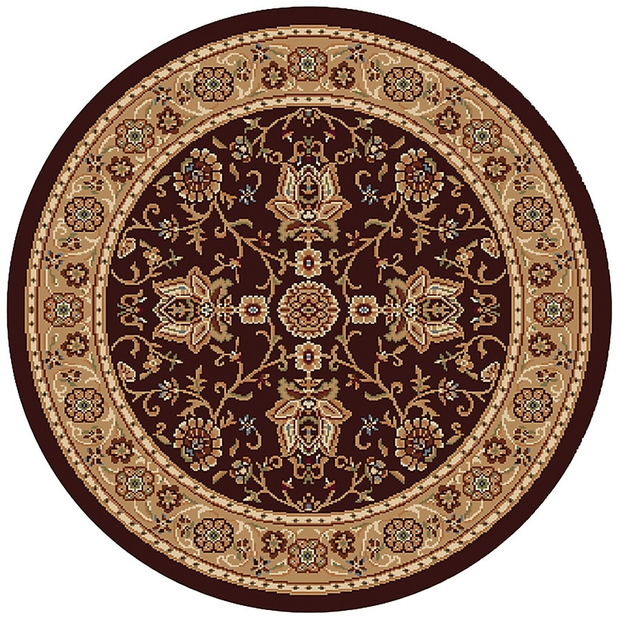 Home Dynamix Rome Gold Round Indoor Woven Throw Rug (Common: 4 x 4; Actual: 39-in W x 39-in L)