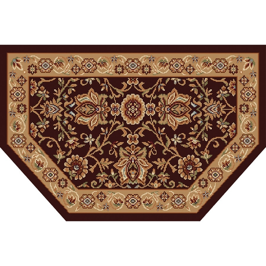 Home Dynamix Rome Brown and Gold Hexagonal Indoor Woven Throw Rug (Common: 2 x 3; Actual: 23.6-in W x 39.3-in L)