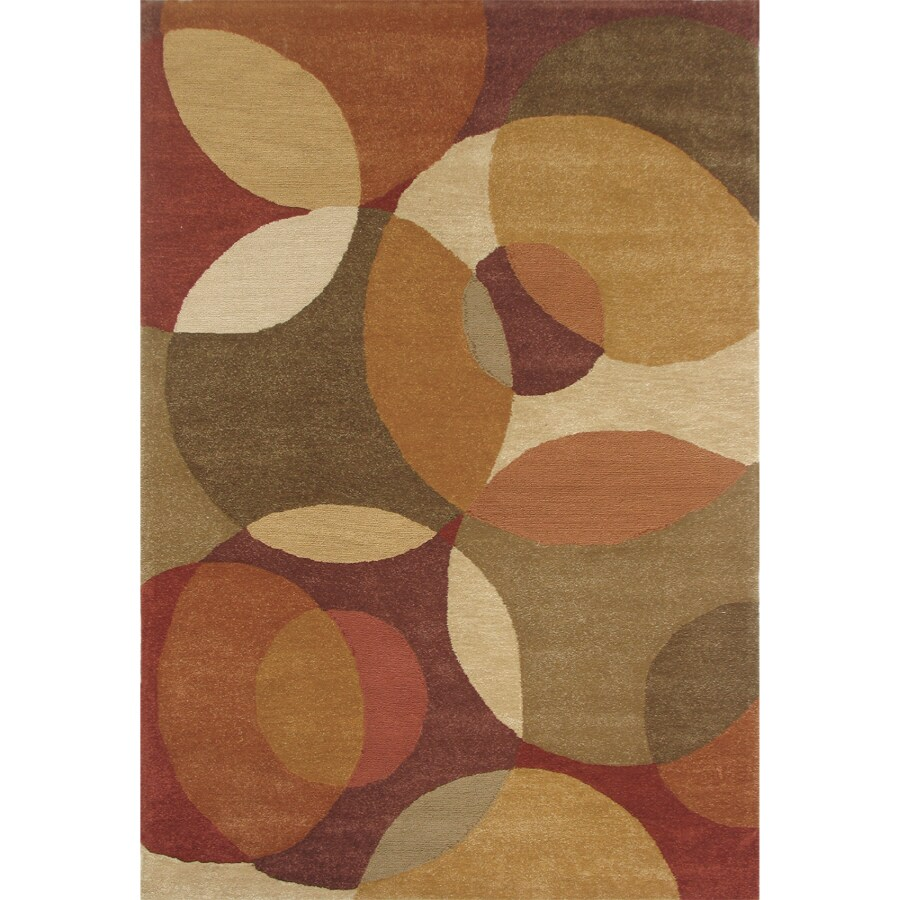 Home Dynamix 5-ft 3-in x 7-ft 4-in Cinnabar Matrix Area Rug