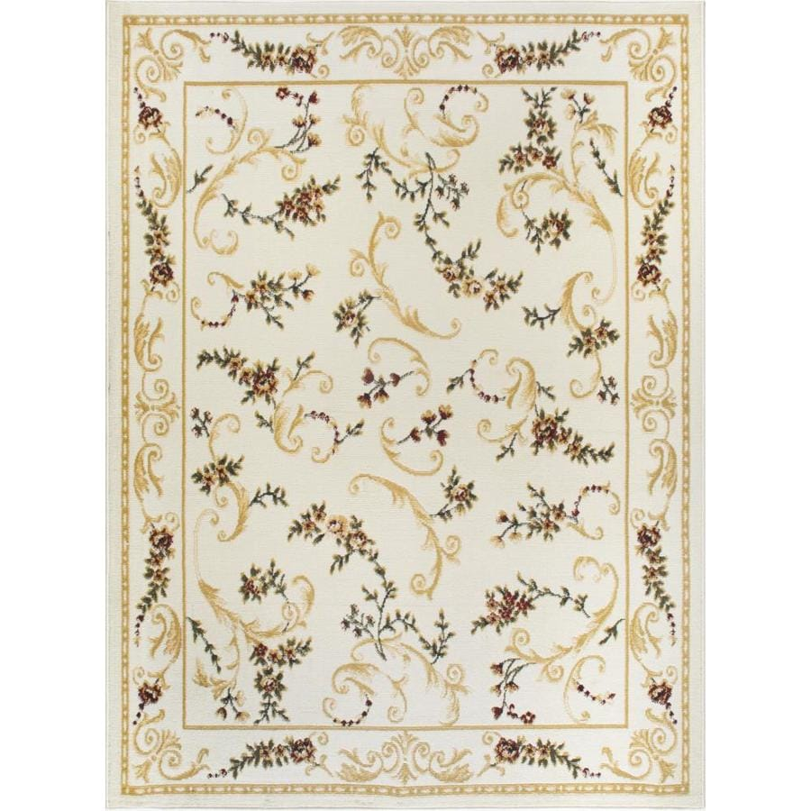 Home Dynamix Geneva Ivory Rectangular Indoor Woven Area Rug (Common: 7 x 10; Actual: 92-in W x 124-in L)
