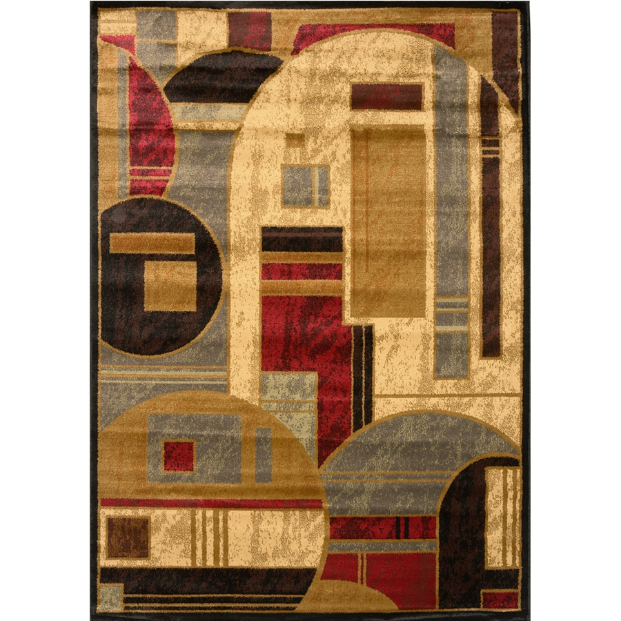 Home Dynamix Royalty Black Rectangular Indoor Woven Area Rug (Common: 5 x 8; Actual: 92-in W x 124-in L)