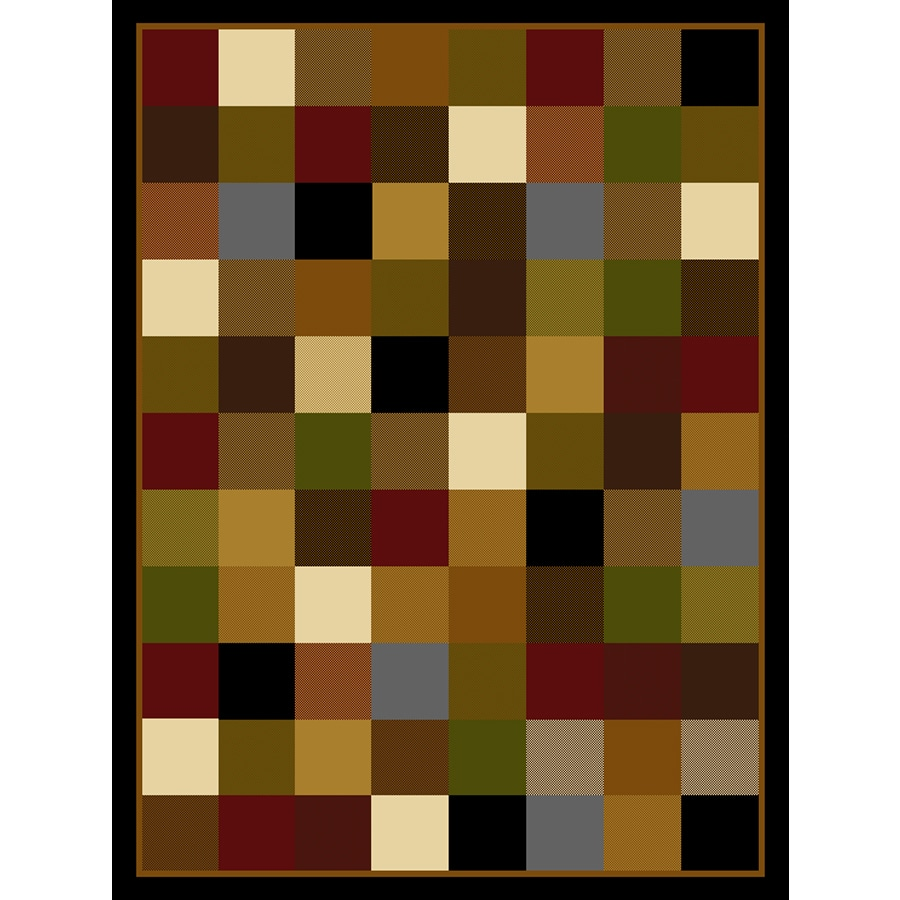 Home Dynamix Royalty Black Rectangular Indoor Woven Area Rug (Common: 8 x 10; Actual: 92-in W x 124-in L)