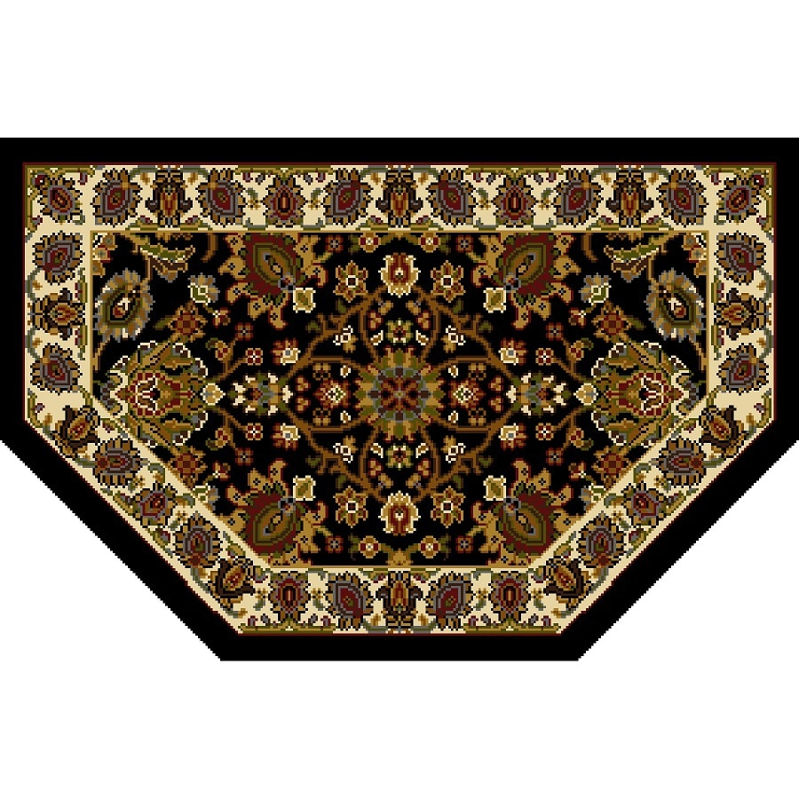 Home Dynamix Paris Black Hexagonal Indoor Woven Throw Rug (Common: 2 x 3; Actual: 1.97-ft W x 3.28-ft L)