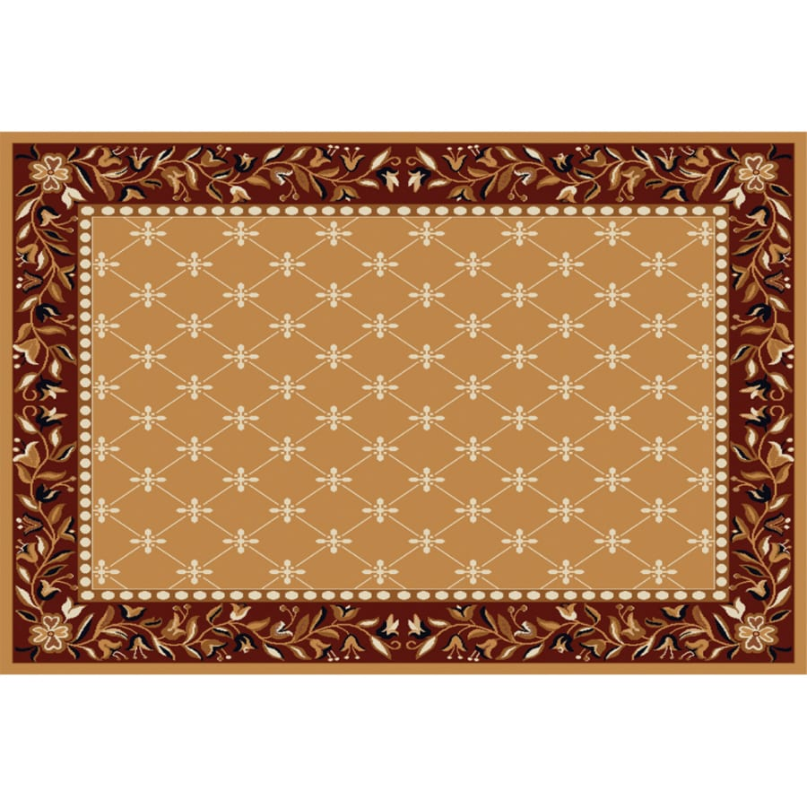 Home Dynamix London Sand Rectangular Indoor Woven Area Rug (Common: 5 x 8; Actual: 5.17-ft W x 7.33-ft L)