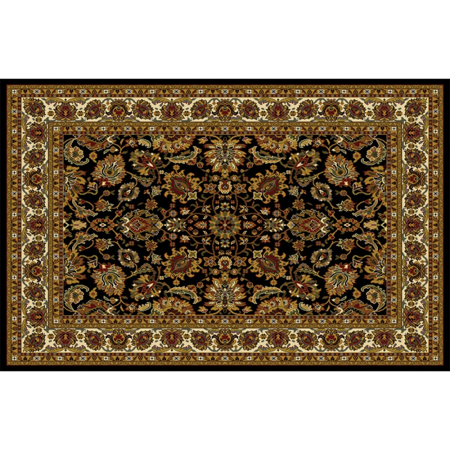 Home Dynamix Paris Black Rectangular Indoor Woven Area Rug (Common: 8 x 10; Actual: 92-in W x 127-in L)