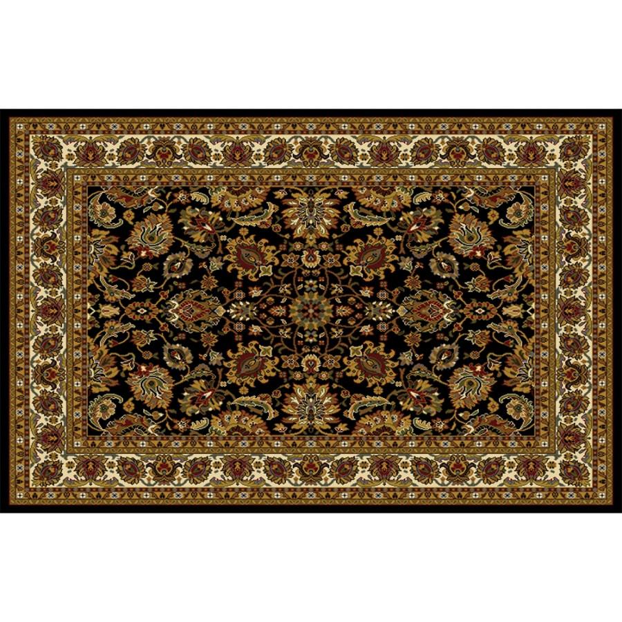 Home Dynamix Paris Black Rectangular Indoor Woven Area Rug (Common: 8 x 10; Actual: 7.67-ft W x 10.58-ft L)