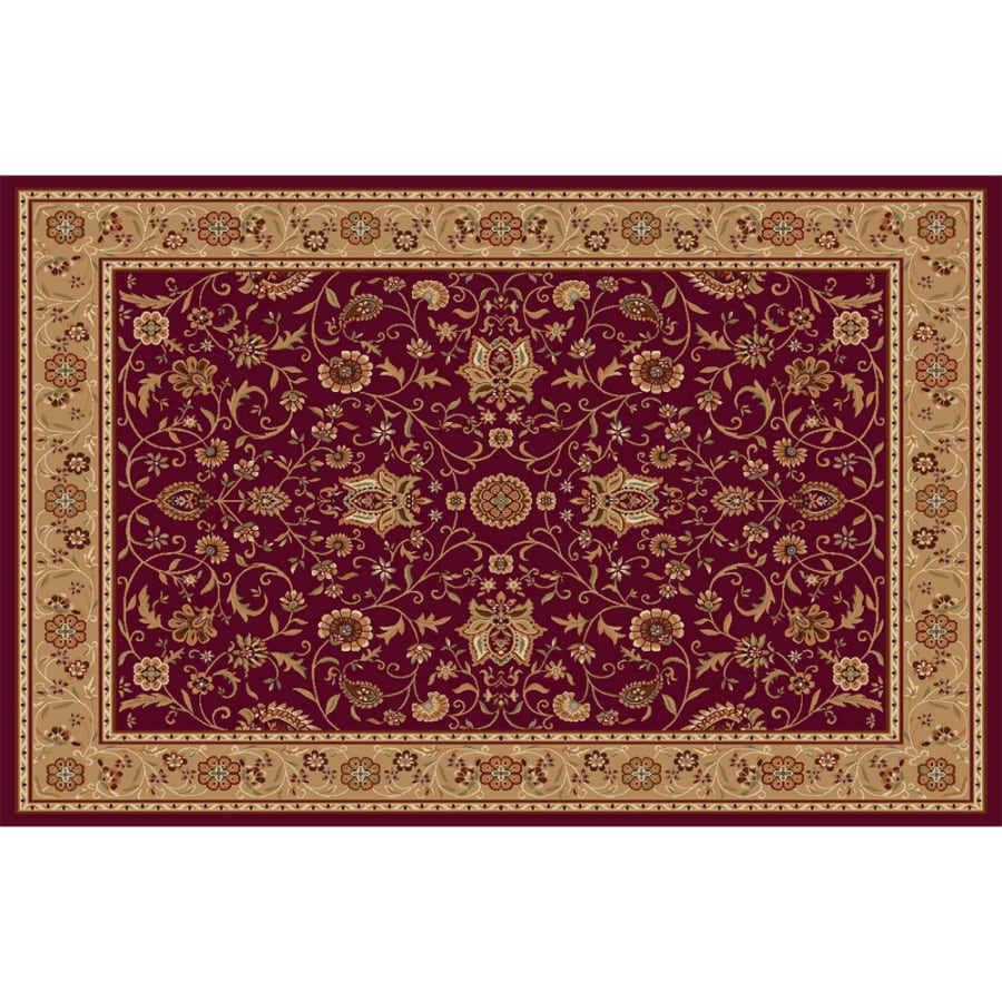 Home Dynamix Rome Red Rectangular Indoor Woven Area Rug (Common: 8 x 10; Actual: 7.83-ft W x 10.17-ft L)