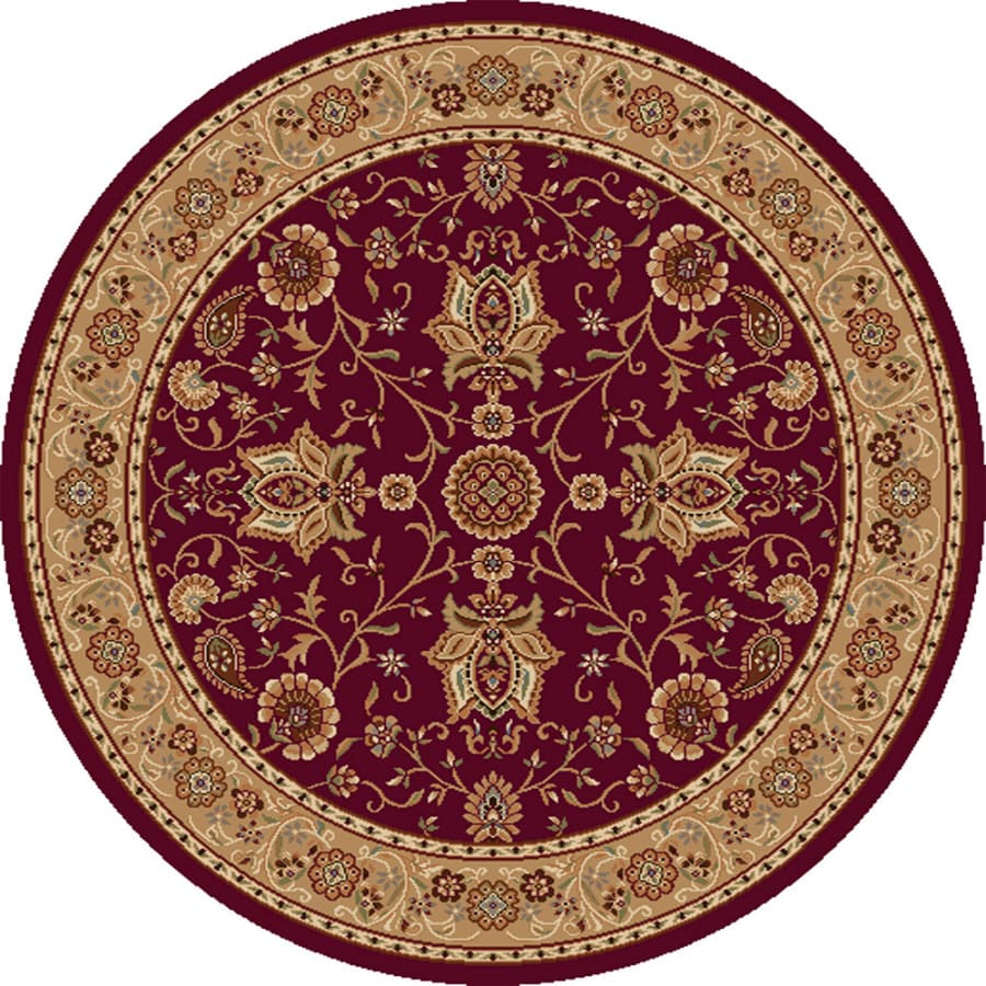 Shop Home Dynamix Rome Red Round Indoor Woven Area Rug Common 8 X 8 Actual