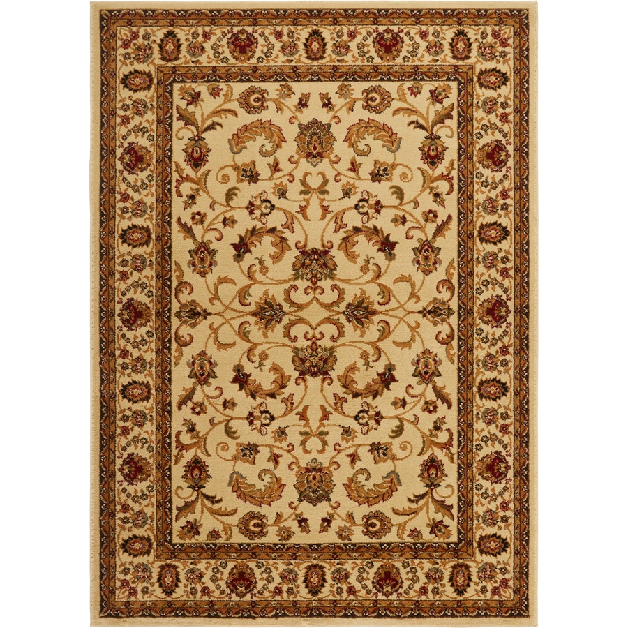 Home Dynamix Royalty Ivory Rectangular Indoor Woven Area Rug (Common: 8 x 10; Actual: 92-in W x 124-in L)
