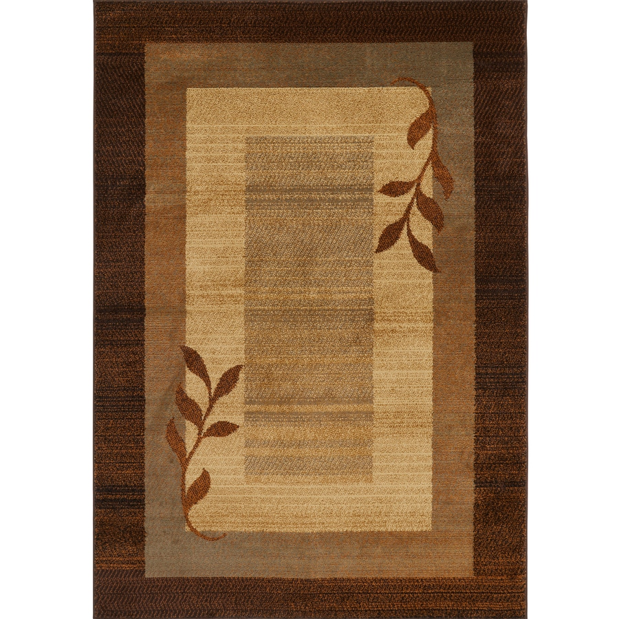 Home Dynamix Royalty Brown and Blue Rectangular Indoor Woven Area Rug (Common: 8 x 10; Actual: 92-in W x 124-in L)