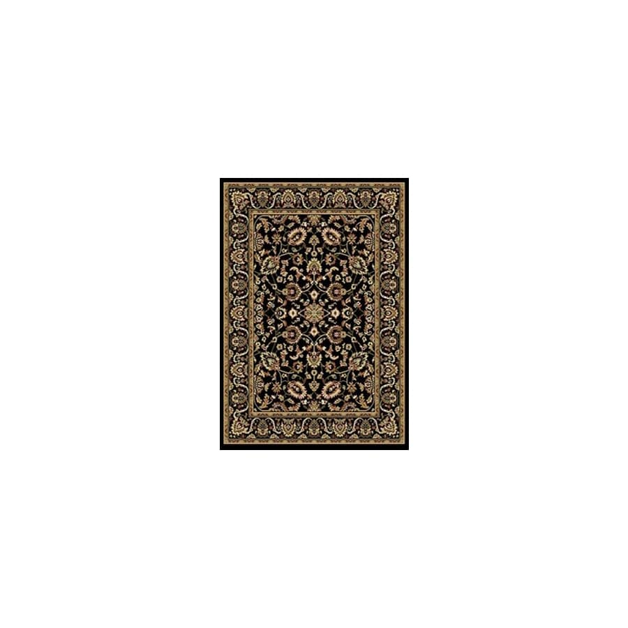 Home Dynamix Supreme 2S 4-ft 11-in x 6-ft 7-in Rectangular Black Transitional Area Rug
