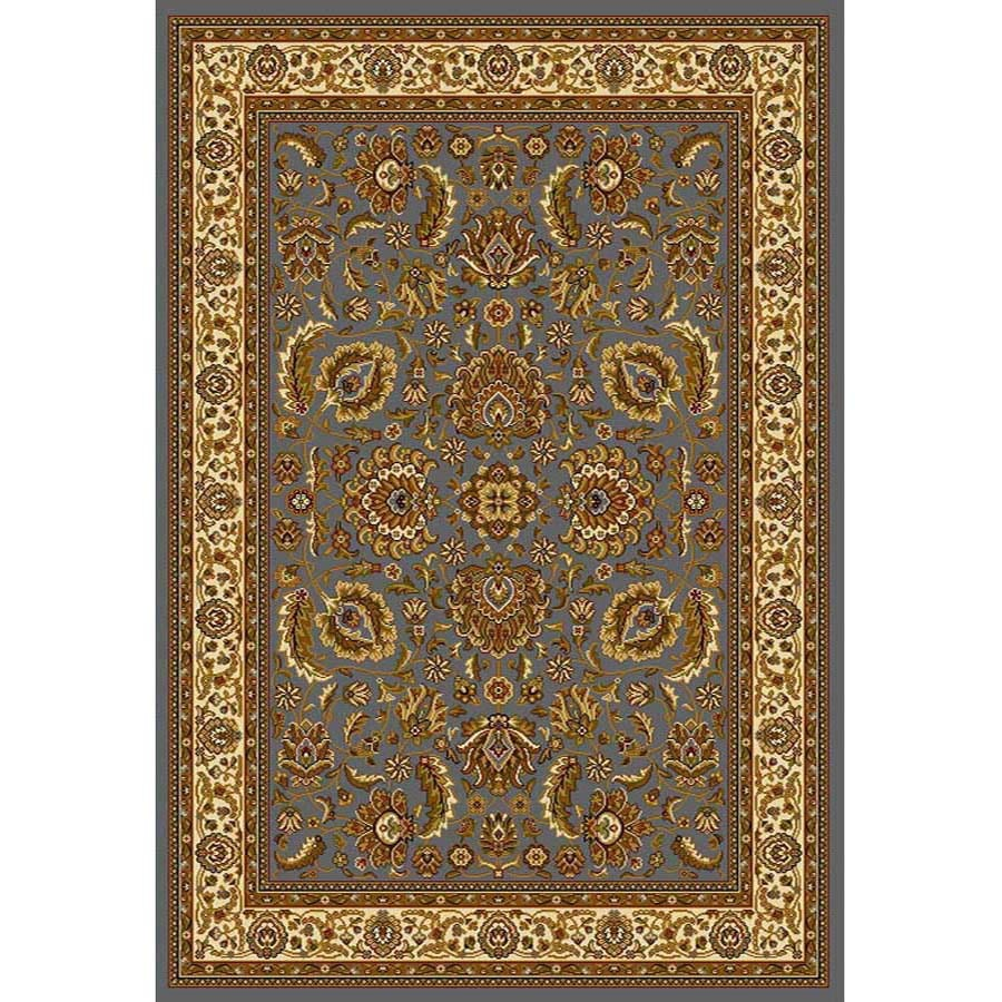 Home Dynamix Brussels Blue and Ivory Rectangular Indoor Woven Area Rug (Common: 5 x 7; Actual: 86-in W x 62-in L)